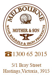 Melbourne Wine Barrels & Iron Products Logo